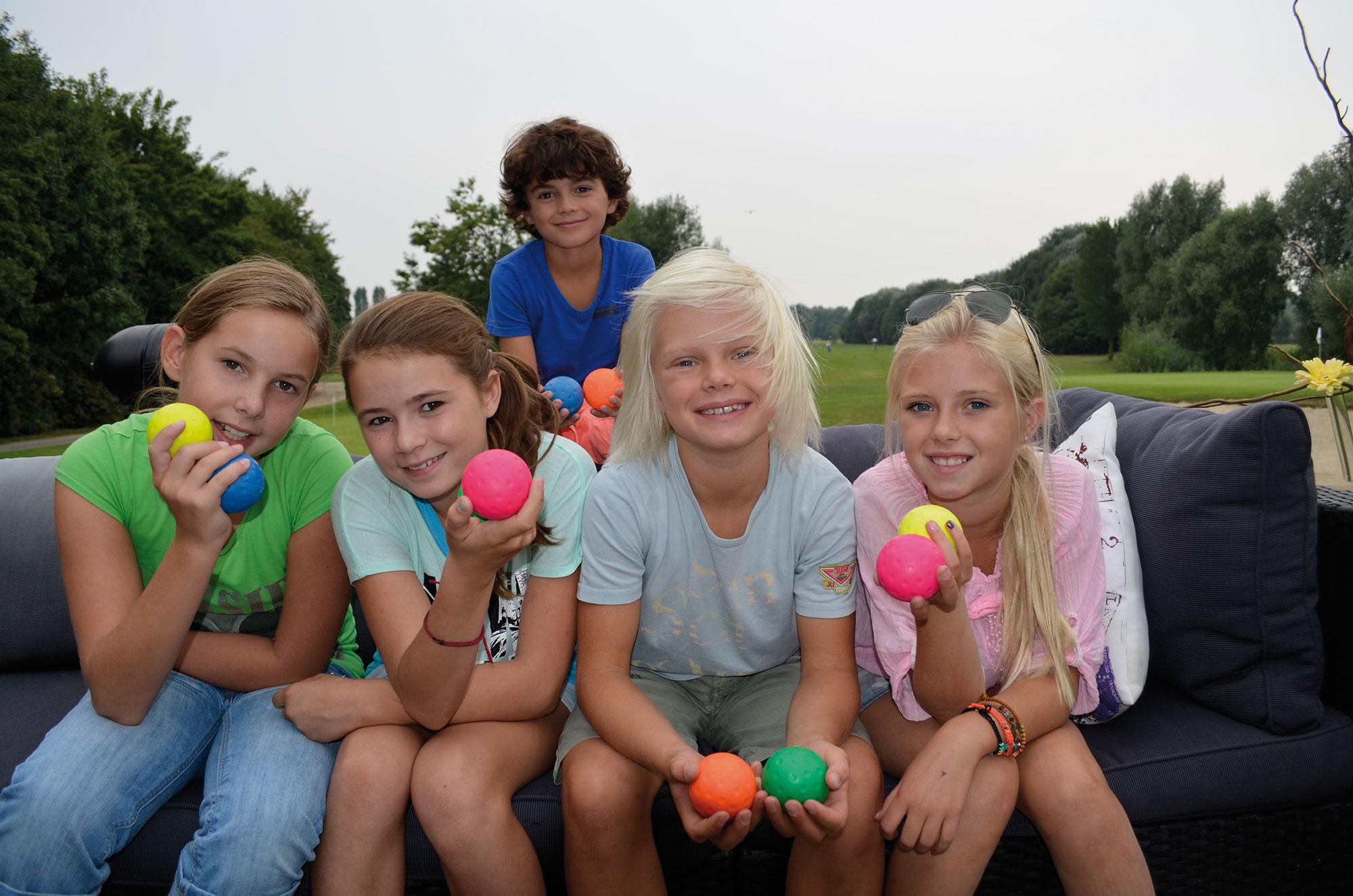sportief kinderfeestje op de golfbaan - Supagolf